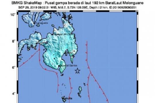 BMKG catat tiga kali gempa susulan di Talaud
