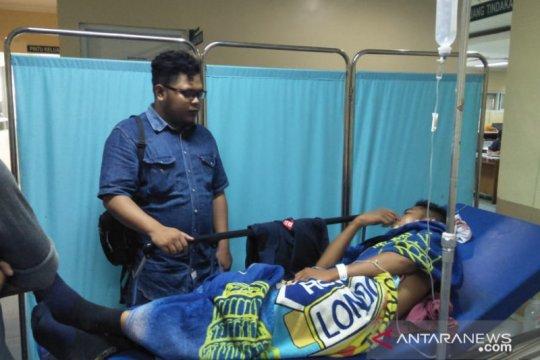 Seorang pelajar menjadi korban pembacokan berandalan bermotor
