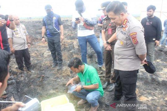 Polda dan DLH ambil sampel lahan terbakar PT DSSP
