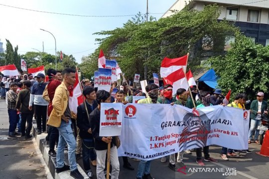 Demo mahasiswa, BEM Jakarta datangi KPK tolak penerbitan Perppu