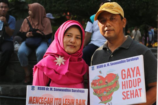 Gaya hidup sehat terus disosialisasikan di Surabaya