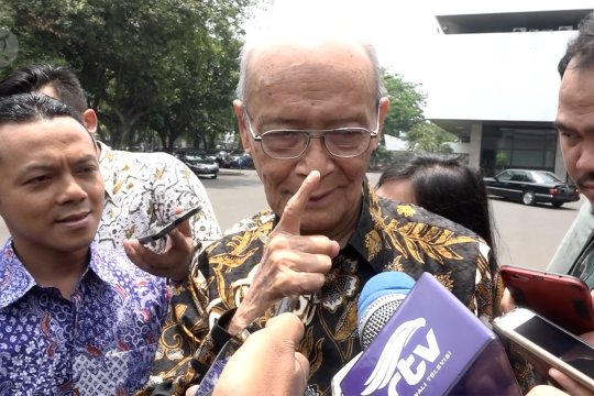 Presiden minta saran Buya Syafii terkait menteri Kabinet Kerja Jilid II