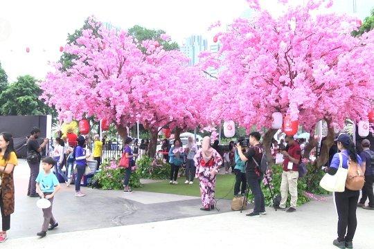 Ada suasana Jepang di Plaza Tenggara GBK