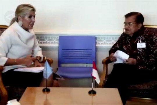 Dorong keuangan inklusif, Wapres JK minta dukungan Ratu Maxima