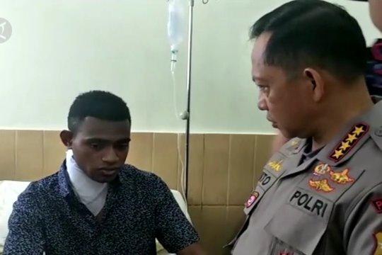 Kapolri beri Kenaikan Pangkat Luar Biasa 3 polisi terluka