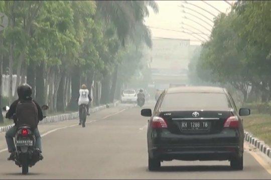 Kota Palangka Raya kembali berkabut asap