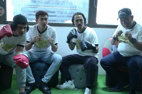 Promosi film, pemeran  Warkop DKI Reborn 3 kunjungi Antara