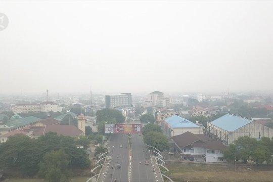 Kabut asap selimuti Aceh, jarak pandang minim
