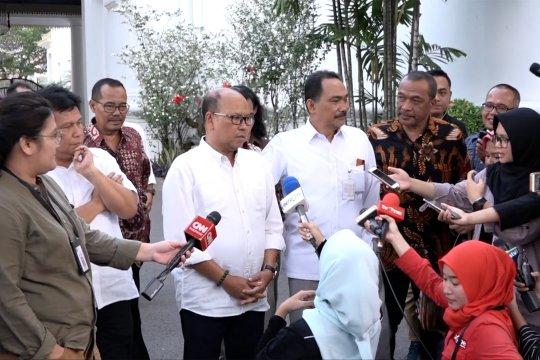 Relawan bertemu Jokowi di Istana bahas Papua sampai RKUHP