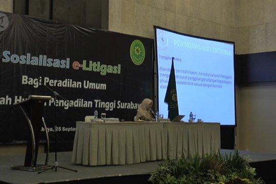 Sosialisasi e-litigasi untuk hakim peradilan umum