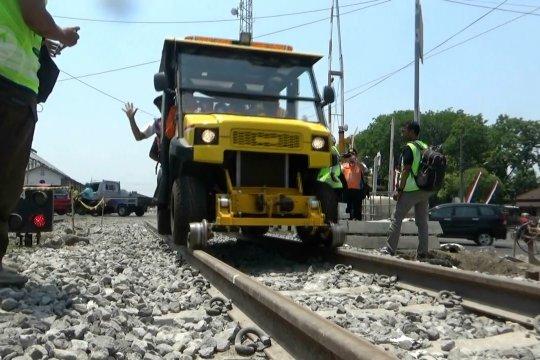 Pengecekan jalur ganda kereta Madiun-Ngawi sebelum beroperasi
