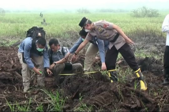 Polisi olah TKP di lahan korporasi seluas 202 hektare