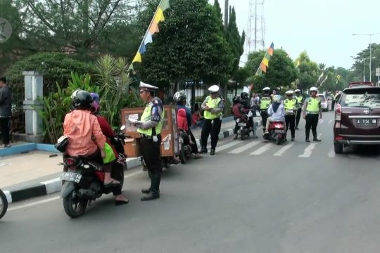 Polres Lebak tilang 2.000an kendaraan dalam sepekan