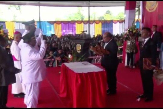 Gubernur Papua lantik Bupati & Wakil Bupati Mimika terpilih