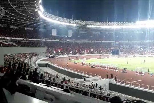 Suasana laga Indonesia – Malaysia di GBK