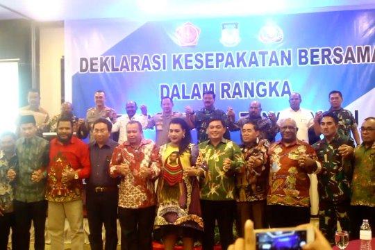 Panglima dan Kapolri saksikan deklarasi Papua tanah damai