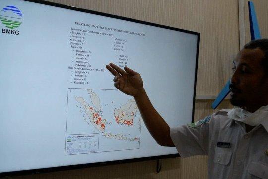 BMKG deteksi 334 hotspot kepung Riau