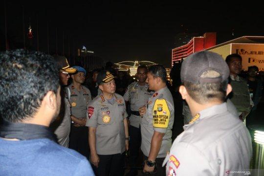 Kapolri dan Panglima TNI tinjau kondisi di DPR