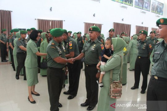 Ratusan personil Korem 133/Nani Wartabone naik pangkat
