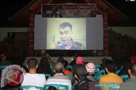 Jajaran Korem 044/Garuda Dempo nobar film Pengkhianatan G30S/PKI