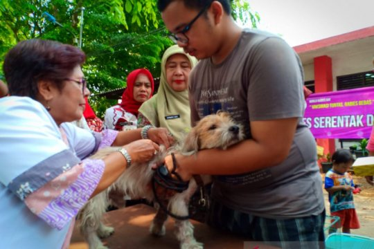 Peringati Hari Rabies Sedunia, Sudin KPKP Jakpus bagi vaksin gratis