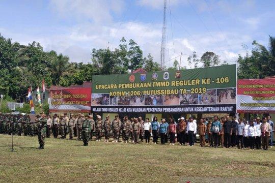 TMMD di batas Indonesia-Malaysia wilayah Kapuas Hulu dimulai