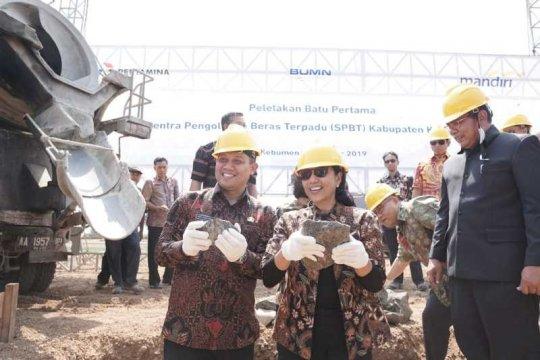 Bank Mandiri-Pertamina bangun pengolah beras terpadu di Kebumen