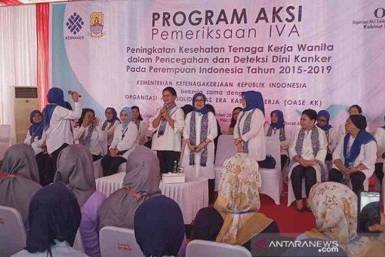 Ibu Negara kampanye deteksi dini kanker ke perempuan pekerja Cirebon