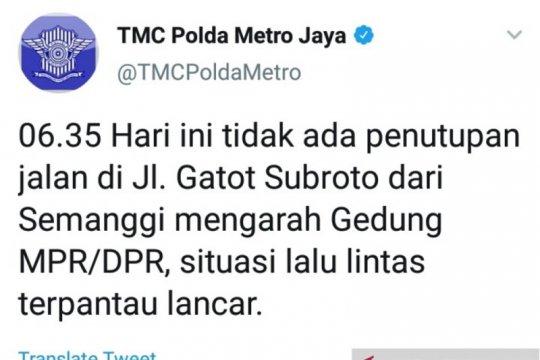 Jalan Gatot Subroto kembali normal beroperasi