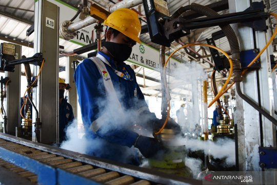Produksi gas LPG 3 kg Makassar
