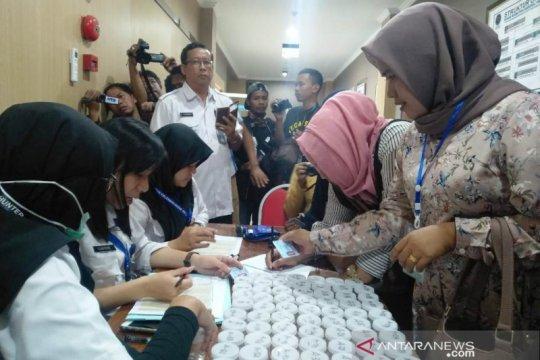 132 bakal calon kades di Sampang jalani tes urine di BNNP Jatim