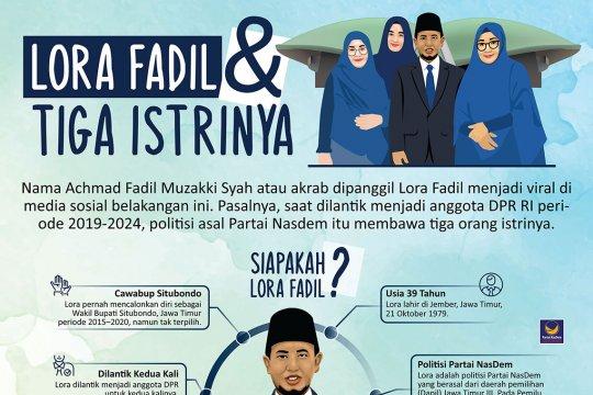 Lora Fadil dan tiga istrinya