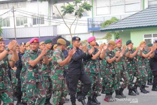 Olahraga dan syukuran persatukan Polri dan TNI di Jakarta Barat