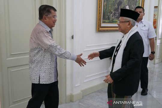 KH Ma'ruf Amin kunjungi Istana Wapres