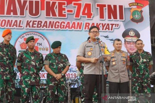 HUT TNI, Wakapolda Metro bangga pada prajurit ikut stabilitas Jakarta