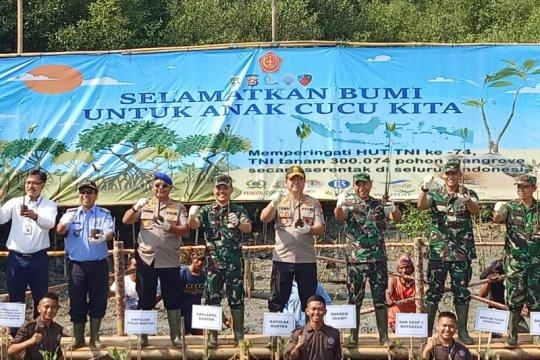 4500 batang pohon mangrove ditanam di pesisir Banten