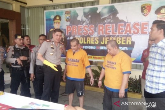 Polres Jember tangkap pemakai dan pengedar narkoba