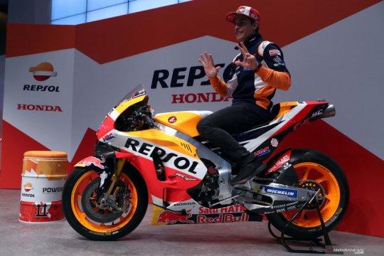 Juara Dunia MotoGP 2019 Marc Marquez kunjungi kantor Repsol