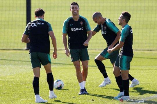 Latihan tim nasional Portugal jelang kualifikasi Euro 2020 melawan Luksemburg