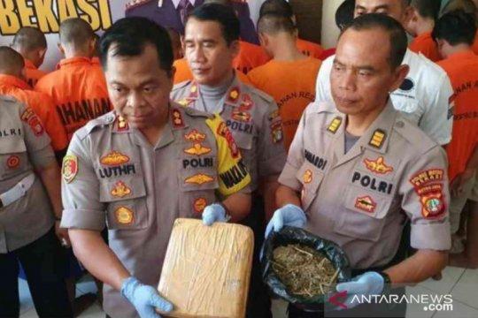 Polres Bekasi tahan 35 pelaku penyalahgunaan narkoba