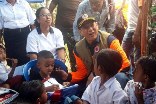Kepala BNPB beri semangat anak terdampak gempa giat belajar