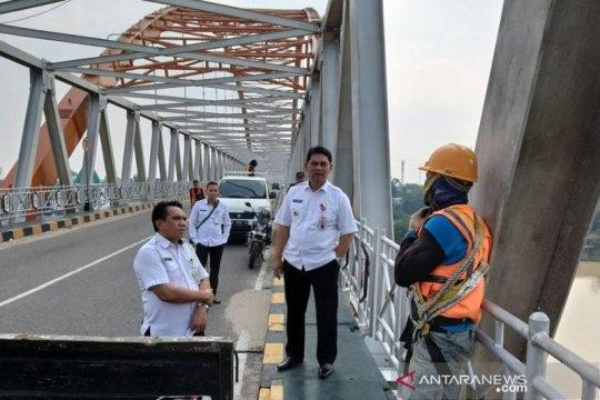 Heboh Jembatan Kahayan miring, ini penjelasan Dinas PUPR Kalteng