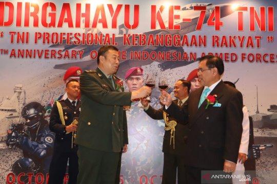HUT TNI di Beijing dihadiri perwira tinggi militer China