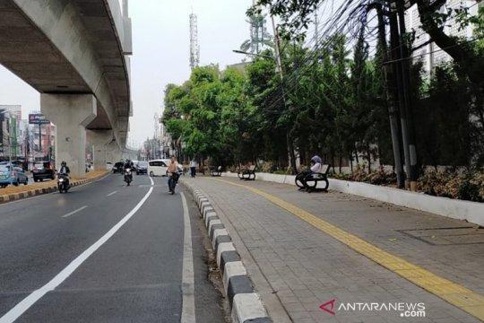 Jalur sepeda fase II Jaksel siap uji coba akhir pekan ini