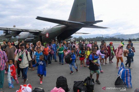 Pengungsi kembali ke Wamena
