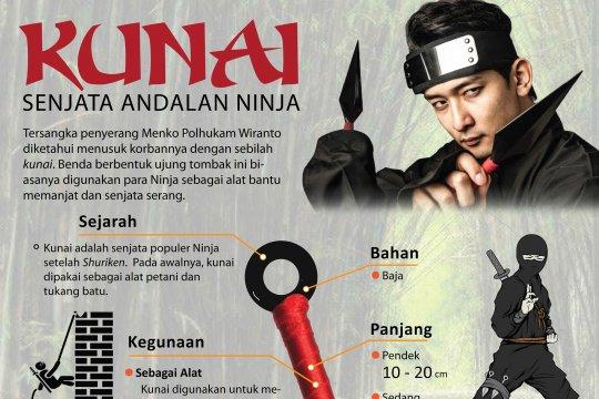 Kunai, senjata andalan Ninja