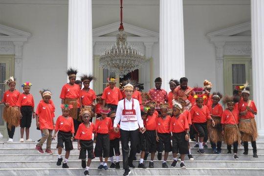 Presiden tarima anak-anak Papua