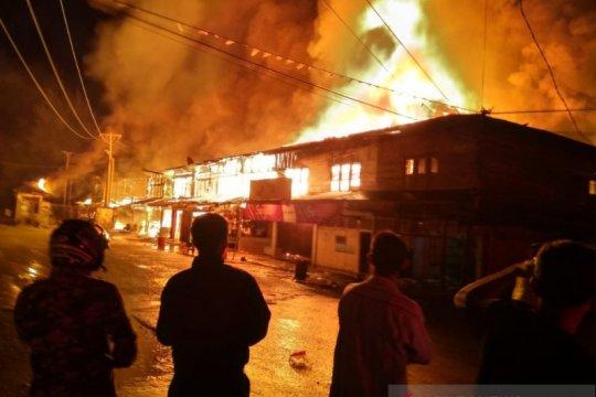 29 ruko terbakar di Sinabang Aceh