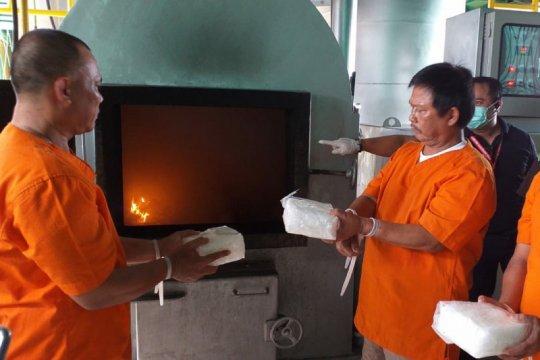 Bareskrim musnahkan 15 kg sabu-sabu hasil penangkapan di Palembang
