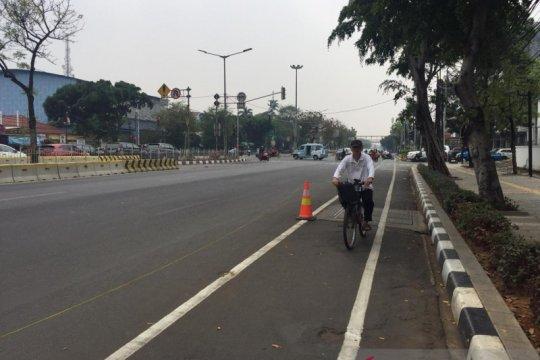 Masyarakat masih enggan memanfaatkan jalur khusus sepeda